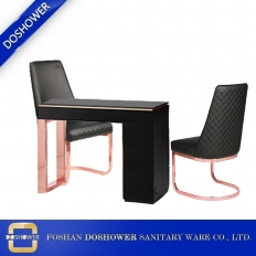 China china high quality rose gold manicure table with gold customer chairs manufacturer DS-N1900 factory