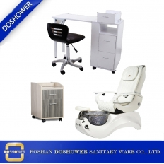 China china nail table dust collector with pedicure massage chair factory for Electric Pedicure Chair Manufacturer China / DS-W17112C-SET factory