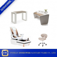 China china pedicure spa chair set nail table manufacturer china pedicure station DS-W9001A SET factory