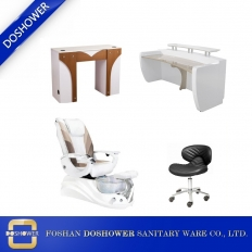 China cream white pedicure chair modern manicure table supplies and manufacturer china DS-W18173B SET factory