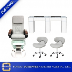 China deluxe spa chair pedicure station china pedicure chair ventilation nail table supply DS-W2059 SET factory