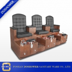 China double pedicure bench with wooden pedicure bench of oem pedicure spa chair DS-J12 factory