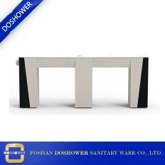 China double vented manicure table with granite nail table top of exhausted fan nail table DS-N2002 factory
