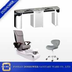China exhaust vent air system pedicure chairs package with custom vent nail table wholesale china DS-W2057 SET factory