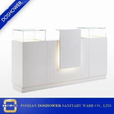 China factory price LED reception desk reception counter table salon reception desk manufacturer china DS-RT218 factory