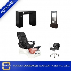 China hot sale salon package pedicure chair with nail salon table set china supplier for beauty salon furniture DS-S16 SET factory