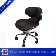 China luxurious salon master black pedicure technician chair with adjustable hydraulic pump factory