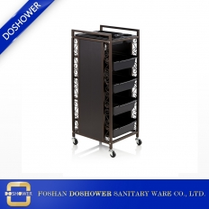 China luxury hairdressing trolley cart tool with rolling wheel beauty salon furniture factory