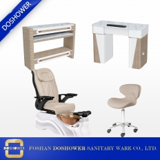 China luxury salon furniture pedicure massage chair with nail table china suppliers DS-W2016 SET factory