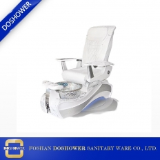 China luxury white and silver spa pedicure chair supplies china with pedicure foot basin of pedicure spa chair manufacturer china DS-W89 factory