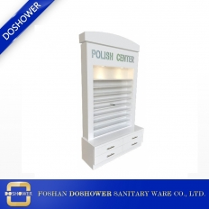 China luxury white gel nail polish rack standing with LED lighting DS-R3 factory