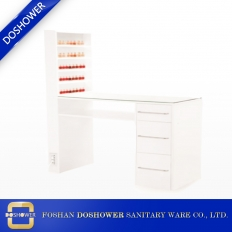 China manicure table for sale with nail table dust collector and nail dryer uv led manufacturer factory