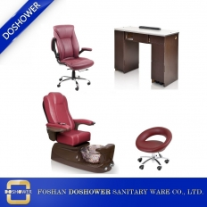 China manicure tables and pedicure chairs footsie bath pedicure spa chair china manufacturer DS-W1785D SET factory