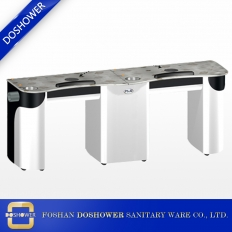 China manicure tables nail bar station nail table with pipe for double air vent nail table wholesale china DS-N2047 factory