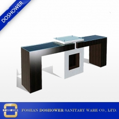 China manicure tables sale with modern nail salon furniture of cheap nail table factory