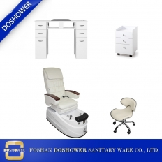 China massage chair supply nail salon pedicure chair and stool chair nail furniture package deals DS-8019 SET factory