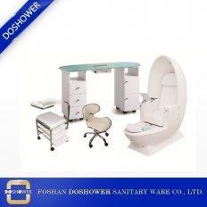 China modern design egg pedicure chair manicure table set china nail supply factory