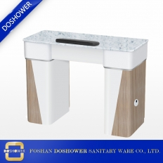 China modern marble nail salon table single manicure table with vacuum suppliers china DS-N2046 factory