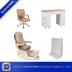 China modern pedicure chair station nail salon spa manicure table package wholesale DS-W1785C SET factory