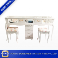 China nail manicure table with white manicure table of manicure table nail station factory