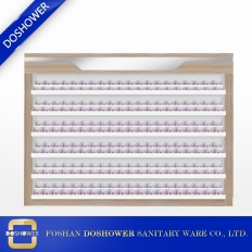 China nail polish wall rack display nail polish nail powder showcase beauty salon on sale china DS-P17 factory