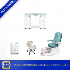 China nail salon furniture manicure table and chair set with pedicure foot spa massage chair pedicure slippers for wholesale DS-W1959 SET factory
