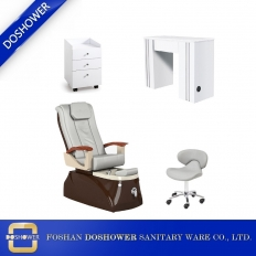 China nail salon package nail salon table pedicure spa chair luxury spa salon furniture supplies DS-4005 SET factory