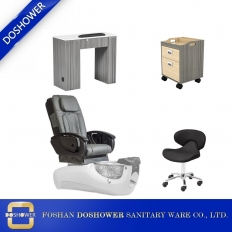 China nail salon pedicure chair furniture modern nail salon table with manicure chair supplies china DS-W1898 SET factory