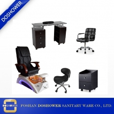 China nail suppliers pedicure spa chair wholesale with manicure table salon furniture manufacturer china DS-23A SET factory