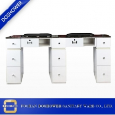 China nail table supplier china manicure table manufacturer china double nail salon table supplier DS-W19123 factory