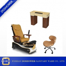 China nail table supplier china with spa pedicure chair supplier of complete nail salon furniture supplier china DS-W21 SET factory