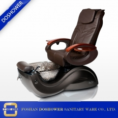 China new chocolate portable pedicure spa chair nail salon chair pedicure with pedicure base factory china DS-S17B factory