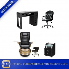 China pedicure chair and manicure table set manufacturer china nail pedicure spa chair salon package DS-W1800A SET factory