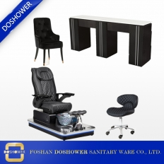 China pedicure chair and salon equipment wood manicure table spa pedicure chair package DS-W2014 SET factory