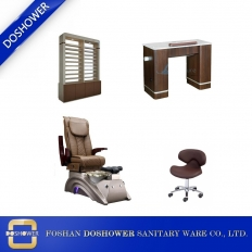 China pedicure chair package nail salon package of manicure table and pedicure chair wholesale DS-X22A SET factory