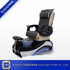 China pedicure chair with massage function and LED lights of luxuries spa foot massage chairs factory