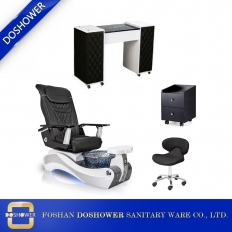 China pedicure massage chair with nail tables supplier of best nail salon furniture collocation wholesale china DS-W89 SET factory