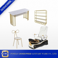 China pedicure spa chair luxury with manicure table salon furniture of nail station furniture for sale DS-W1802 SET factory