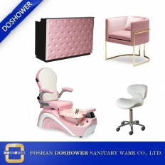 La fábrica de China silla de pedicura spa para pies de niño rosa con muebles de spa para niños al por mayor de China DS-KID SET
