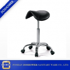China salon furniture foot spa pedicure stool chair black saddle seat stool wholesale DS-C6 factory