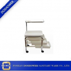 China salon nail table suppliers with salon furniture for hairdressing and peidcure shop cart /DS-BT3-W factory