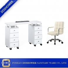 China salon nail table suppliers with spa pedicure chair manufacturer for china nail table dust collector salon stool technician chairs / DS-1070 factory