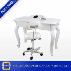China salon station furniture nail table with dust collector of nail manicure table manufacturer factory