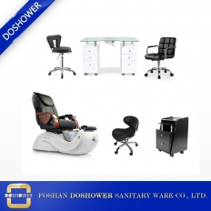 China spa chair pedicure package with manicure table salon furniture wholesale salon sets furniture 2019 DS-S17E SET factory