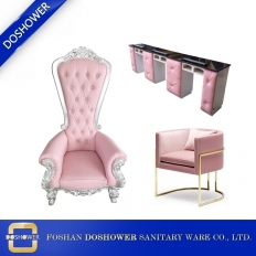 La fábrica de China trono pedicura silla fabricante barra de uñas mesa y silla venta al por mayor de china DS-ThroneA SET