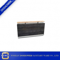 China tufted reception desk with reception desk counter for salon reception desk factory