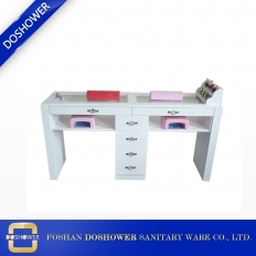China white double manicure table wholesale wood beauty salon nail desk nail salon furniture DS-N1 factory
