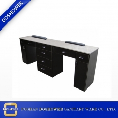 China wholesale antique marble manicure table station vintage nail table manufacturer DS-W19121 factory
