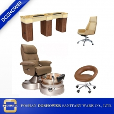 China wholesale custom pedicure chairs beauty salon pedicure spa chairs and salon manicure table package manufacturer china DS-T606 SET factory