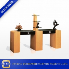 China wholesale doshower nail table nail technician table wood salon table furniture factory